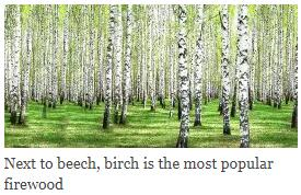 Next to beech, birch is the most popular firewood